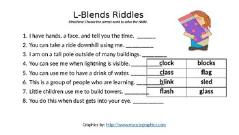 L-Blends Practice