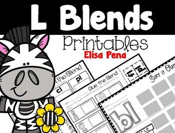 L Blends Printables