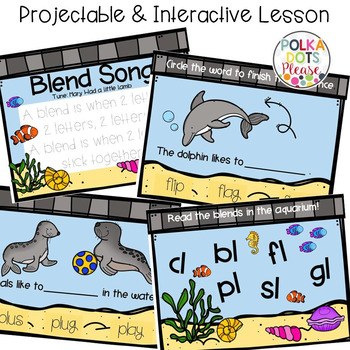 L Blends Projectable Mini-Lesson, Printables, and Center