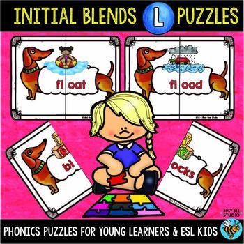 L Blends Activities   Puzzles