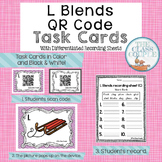 L Blends QR Code Task Cards