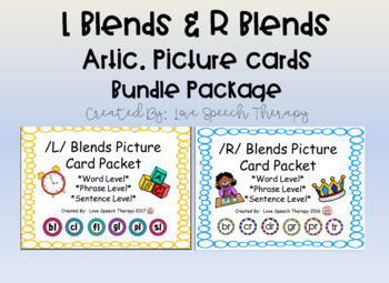 L Blends & R Blends Artic. Picture Bundle Package (S Blends are Coming Soon!)