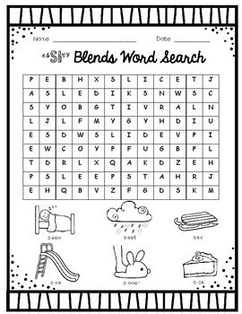 L Blends, R Blends, and S Blends Word Search Packet- BUNDLE!!!