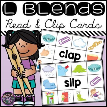 L Blends Read and Clip Cards