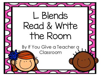 L Blends Read and Write the Room FREEBIE