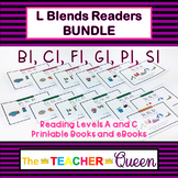 L Blends Readers BUNDLE Levels A and C (Printable Books an