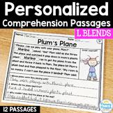 L Blends Reading Passages: PERSONALIZED Comprehension Class Sets