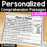 L Blends Reading Passages: PERSONALIZED Comprehension Class Sets