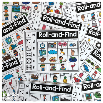 L Blends Roll and Find Activity