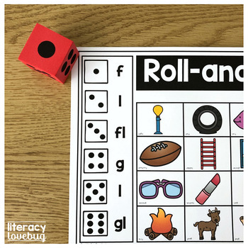 L Blends Roll-and-Find Activity