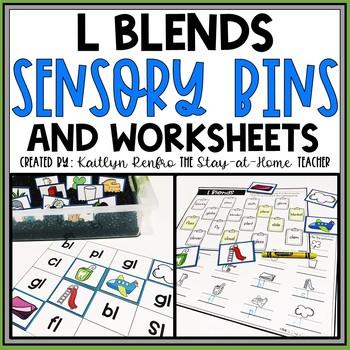 L Blends Worksheets and Sensory Bins