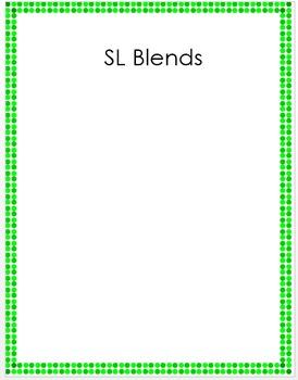L Blends Sorting Activities