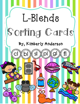 L-Blends Sorting Cards and Activity Sheets (L Blends)