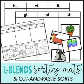 L-Blends Sorting Mats and Cut-and-Paste Sorts