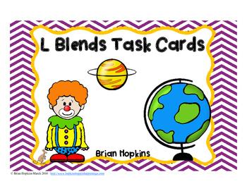 L Blends Task Cards
