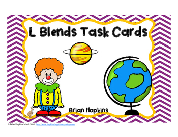 L Blends Task Cards