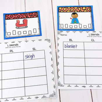L Blends Task Cards/Scoot Games