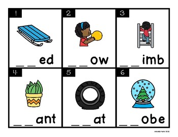 L Blends Task Cards (Scoot, Write the Room, Center)