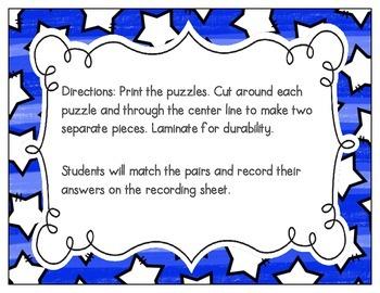 L-Blends Vocabulary Puzzles