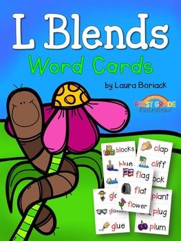 L Blends Word Cards