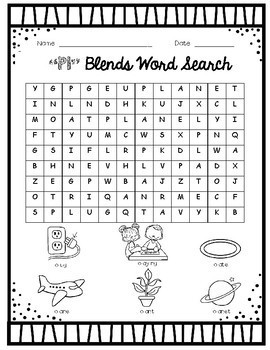 L Blends Word Search Packet