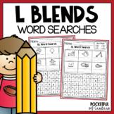 L Blends Word Searches: BL, CL, FL, GL, PL, SL