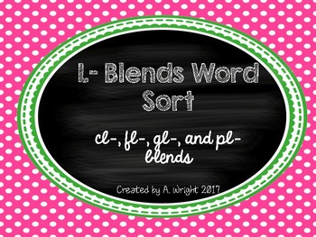 L-Blends Word Sort