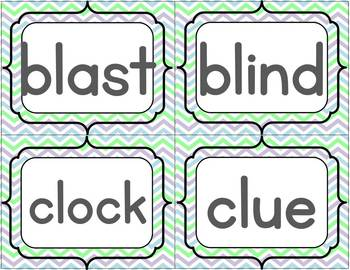 L Blends Word Sort Set { color and B&W versions included}