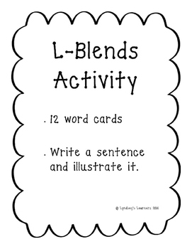 L-Blends Word Work
