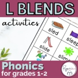 L Blends Word Work Activities
