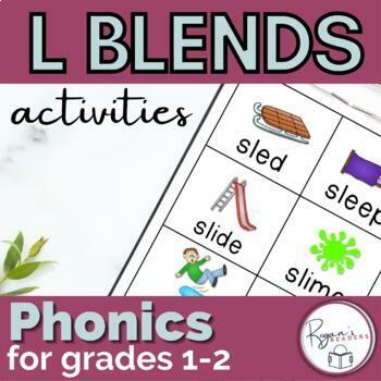 L Blends Word Work Activities