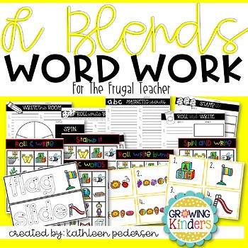 L Blends Word Work for the Frugal Teacher