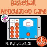 L Blends Words Basketball Articulation Game BOOM CARDS