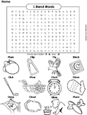L Blends Worksheet: bl cl fl gl pl and sl Initial Consonant Blends Word Search