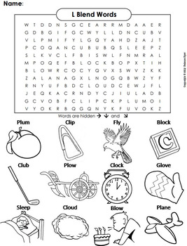 l blends worksheet bl cl fl gl pl and sl initial consonant blends