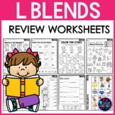 L Blends Worksheets (Consonant Blends Worksheets)