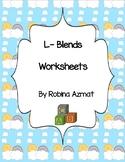 L-Blends Worksheets