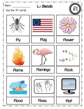 L-Blends Worksheets