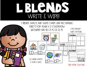 L Blends Write & Wipe--Literacy Center for Bl, Cl, Fl, Gl,