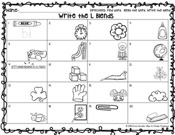 L Blends: Write the Room/Scoot Game!