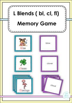 L Blends (bl, cl, fl ) Memory Game