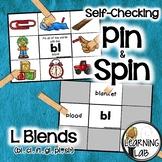 L Blends (bl, cl, fl, gl, pl, sl) - Self-Checking Phonics Centers