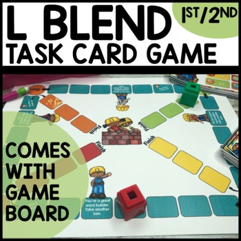 L Blends (bl, cl, gl, fl, pl) Task Card Game
