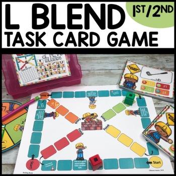 L Blends (bl, cl, gl, fl, pl) Task Card Game