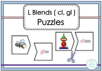L Blends ( cl, gl ) Puzzles
