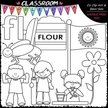 L Blends (fl) Phonics Clip Art - Consonants Clip Art