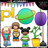 L Blends (pl) Phonics Clip Art - Consonants Clip Art