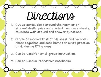L Blends (sl and bl) Tiny Task Cards