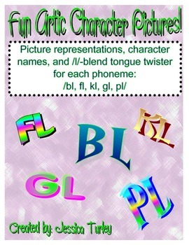 L Consonant Cluster Posters and Tongue Twisters for Artic