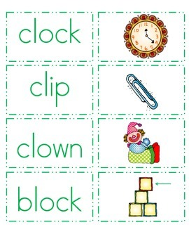 L Controlled Blends Word and Picture Match